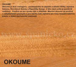GWdesign - OKOUME OKOUME Okoumé je druh mahagonu , pocházejícího ze západní a střední Afriky, zejména Gabonu, Rovníkové Guiney a Republiky Kongo. V této části světa je poměrně rozšířený . Používá se pro výrobu dýh a překližek .Masivní okoume se používá v nábytkářském průmyslu a pro stavbu lodí, zejména pro svou neopakovatelnou kresbu a dobré mechanické vlastnosti. - postel CASPO výklop - buk