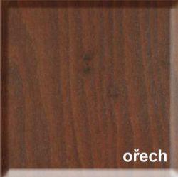 JELÍNEK - ořech  - postel RÁCHEL s plným čelem