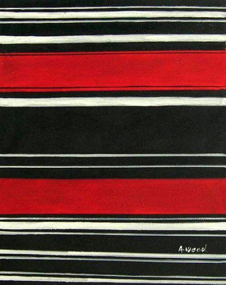 Obraz - Červená a černá