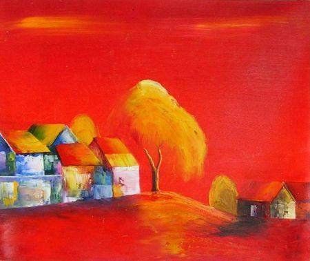 Obraz - Červená krajina
