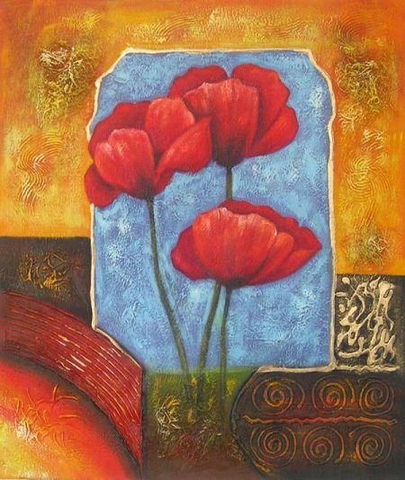 Obraz - Červené květy III.