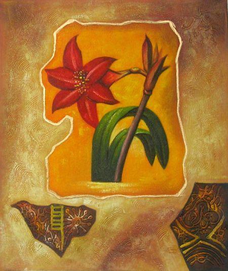 Obraz - Červený květ IV.
