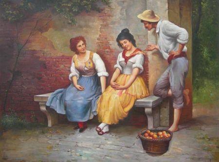 Obraz - Dvě ženy a muž