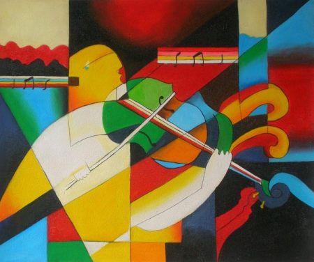 Obraz - Hra na housle I.