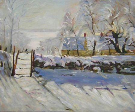 Obraz - Pokrytá sněhem