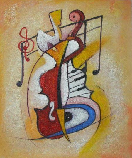 Obraz - Rodina hudby
