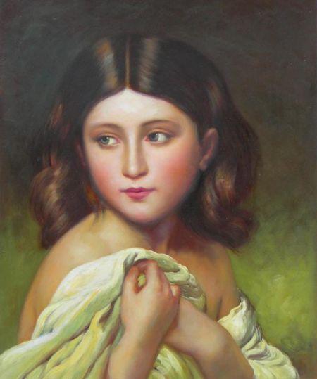 Obraz - Sedící dívka I.
