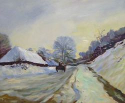 Obraz - Spící cesta pod sněhem