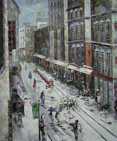 Obraz - Ulice v Paříži I.