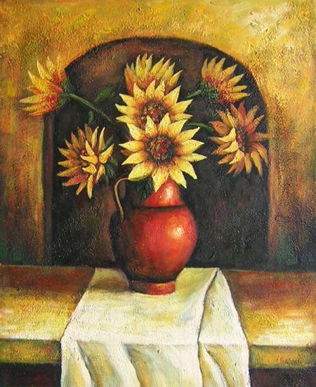 Obraz - Váza slunečnic