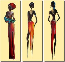 Obrazový set - Africké modelky
