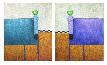 Obrazy - Psi s jablkem