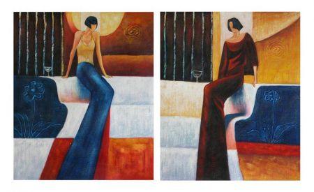 Obrazy - Sedící dámy