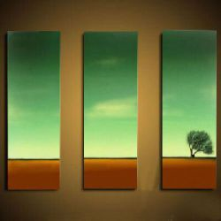 Vícedílné obrazy - Osamocený strom