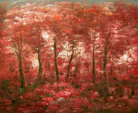 Obraz - Zátiší s červenými javory