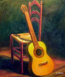 Obraz - Zátiší kytara