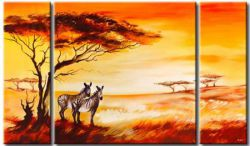 Obrazový set - Zebry na savaně