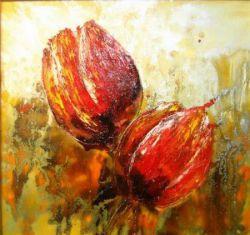 Obrazy - Červené tulipány