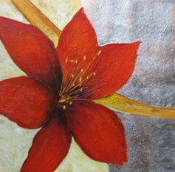 Obrazy - Červený květ I.