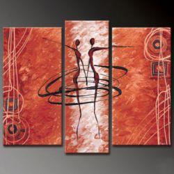 Vícedílné obrazy - Červení lidé