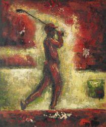 Obraz - Červený golfista
