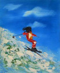Obraz - Horský lyžař