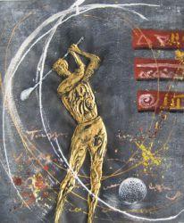 Obraz - Zlatý golfista