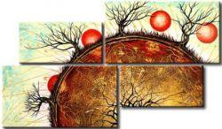 Vícedílné obrazy - Stromy