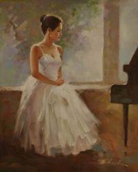 Obraz - Čekání u klavíru