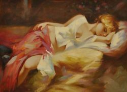 Obraz - Spící dívka