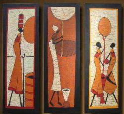 Vícedílné obrazy - Africké ženy