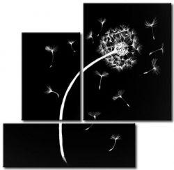 Vícedílné obrazy - Bílá pampeliška