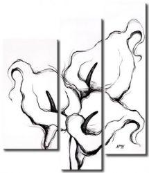 Vícedílné obrazy - Černobílé kaly