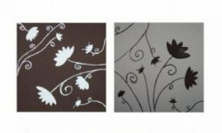 Vícedílné obrazy - Květina v negativu