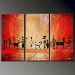 Vícedílné obrazy - Na pastvu