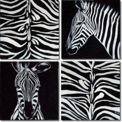 Vícedílné obrazy - Zebra