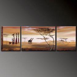 Vícedílné obrazy - Žirafy