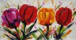 Obraz - Pestré tulipány