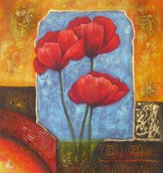 Obraz - Červené květy II.