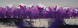 Obraz - Moderní fialové květy