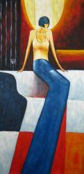Obraz - Sedící žena