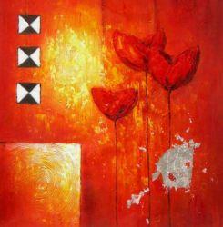 Obraz - Tři červené květiny