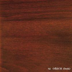 vyk - 14 OŘECH (buk)  - postel LADA - jádrový buk, výklop
