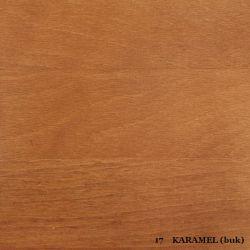 vyk - 17 KARAMEL (buk)  - postel LADA - jádrový buk, výklop