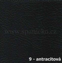AKSAMITE / 9 - antracitová ekokůže  - postel ALEXANDR VELIKÝ
