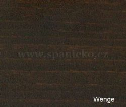 p - WENGE (smrk)  - postel KAZI - smrk