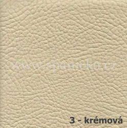 AKSAMITE / 3 - krémová ekokůže  - postel D'ARTAGNAN