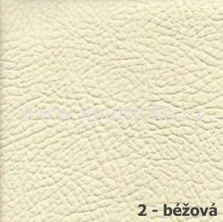 AKSAMITE / 2 - béžová ekokůže  - postel ALEXANDR VELIKÝ