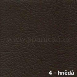 AKSAMITE / 4 - hnědá ekokůže  - lavice ALLEGADO