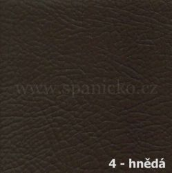AKSAMITE / 4 - hnědá ekokůže  - postel D'ARTAGNAN